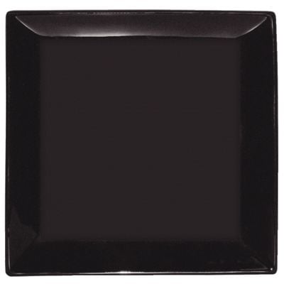 Assiette carrée Olympia noire 28 cm