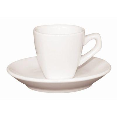 Olympia Whiteware Untertasse für Kaffeetasse Y115 abgerundet