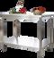 Table de travail en inox Profi 700 x 600mm avec étagère basse
