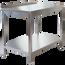 Edelstahl Arbeitstisch Profi 800 x 700 mm - mit Grundboden und Aufkantung