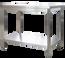 Table de travail en inox Profi 600 x 700mm avec étagère basse