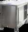 Armoire de travail en inox Profi avec portes coulissantes et dosseret 1200 x 700mm
