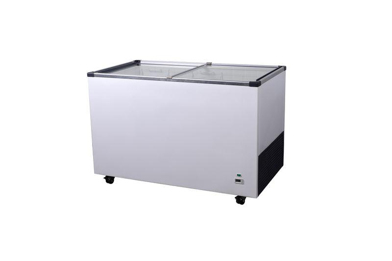 Tiefkühltruhe ECO 380 Digital mit Glasschiebedeckel