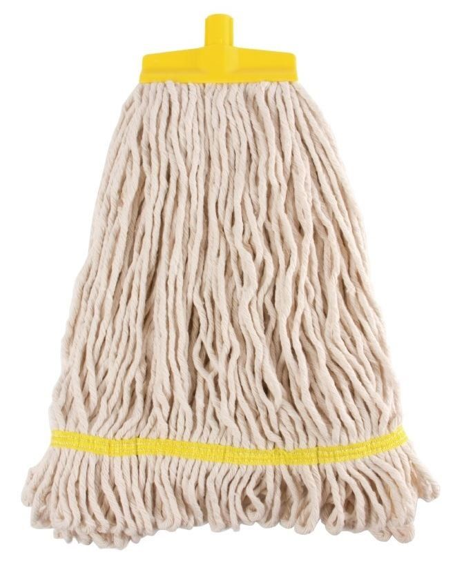 Rubbermaid Eimer und Moppresse gelb mit Kentucky Mopp gelb und Kentucky Besenstiel gelb