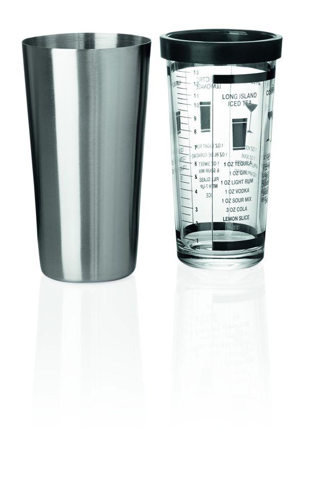 Boston Shaker mit Cocktailrezepte und Maßeinleitung - 0,6 Liter