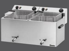 Bartscher Elektrofritteuse PROFI 2 Becken je 10 Liter mit Fettablasshahn