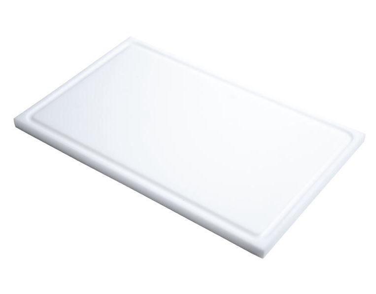 Schneidebrett mit Saftrille Gastro-M GN 1/2 weiß