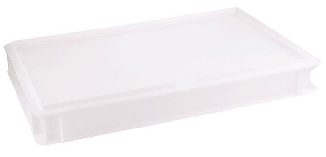 Pizzaballenbehälter, weiß Polyethylen, 60x40x7,5cm