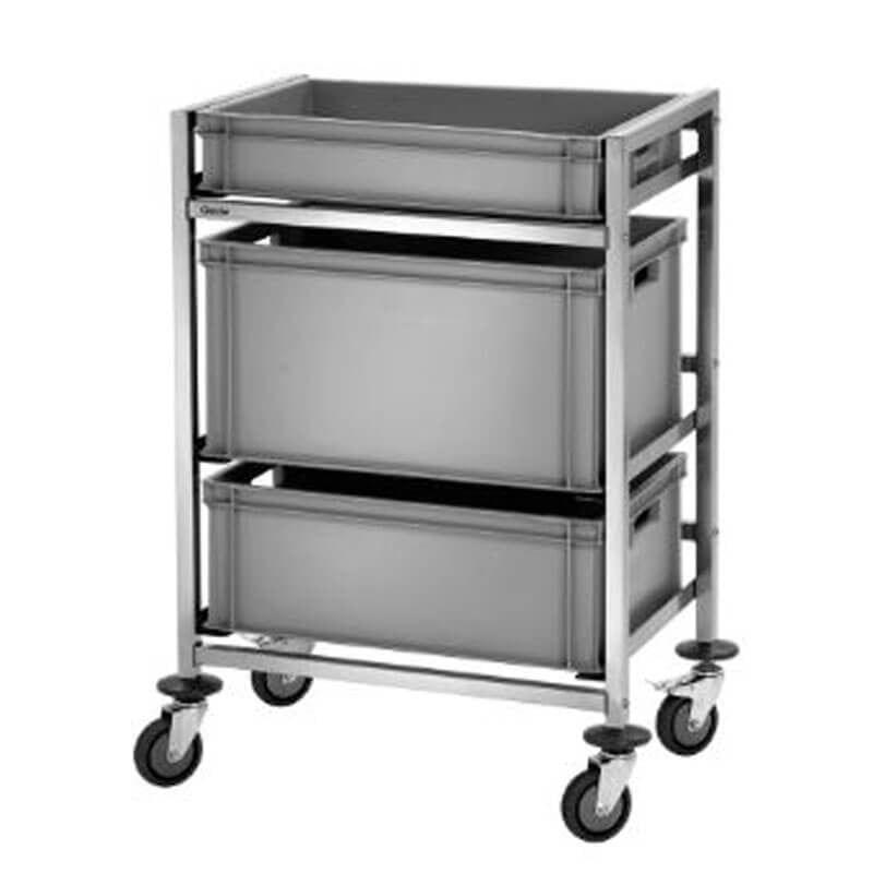 Kisten-Abräumwagen für Euronorm-Kisten
