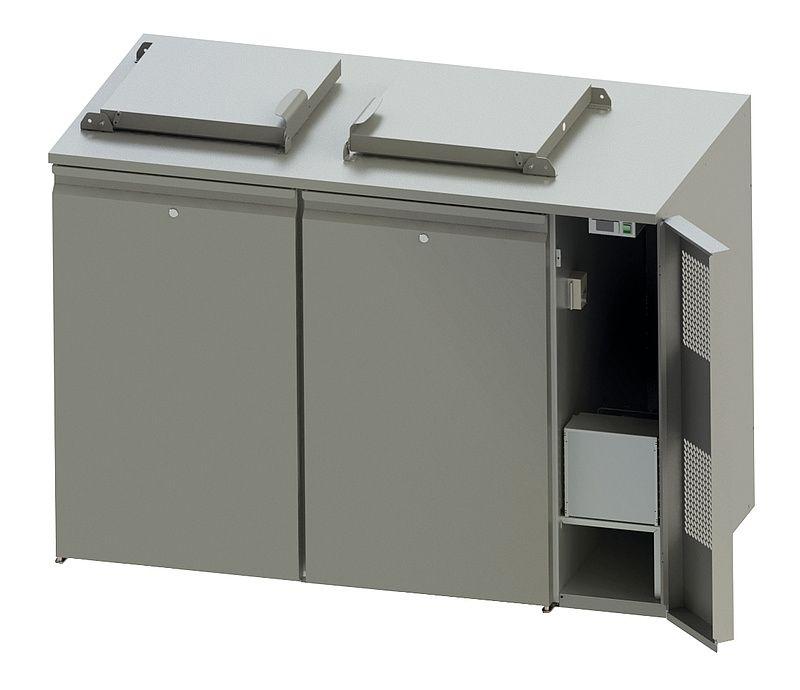 NordCap Abfallkühler 240 Liter, montiert