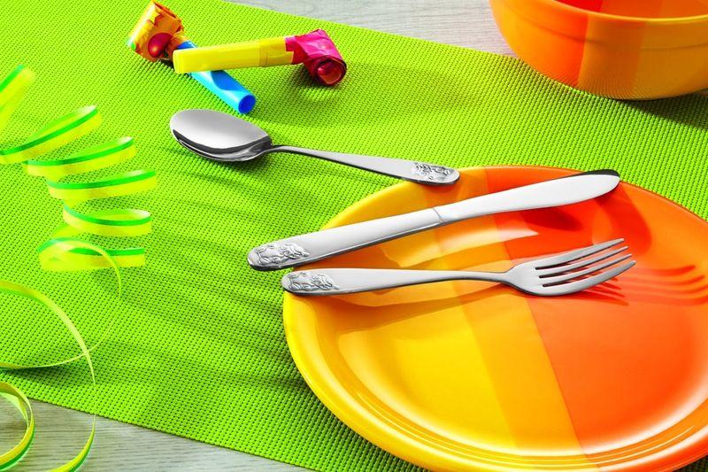 Couteau pour enfants avec un ours en acier chromé