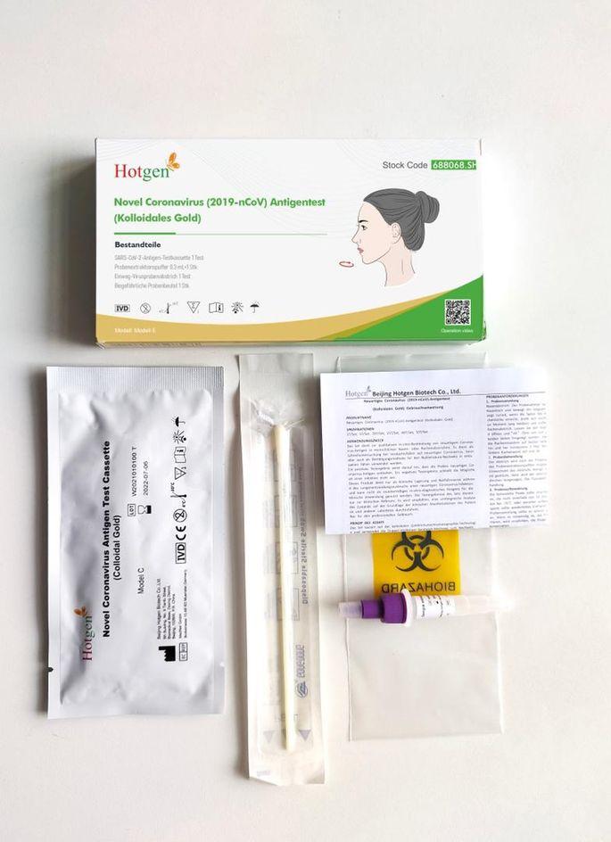 HOTGEN nasaler Antigen-Schnelltest für Laien