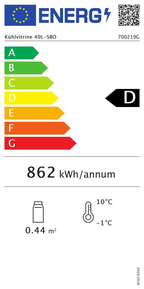 Bartscher Kühlvitrine 40L SBO
