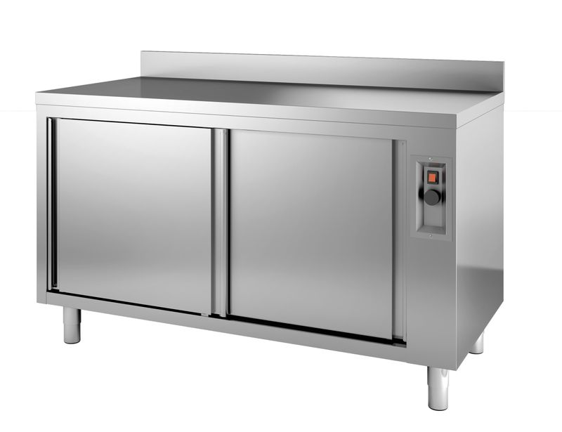Wärmeschrank ECO 18x6 mit Schiebetüren und Aufkantung
