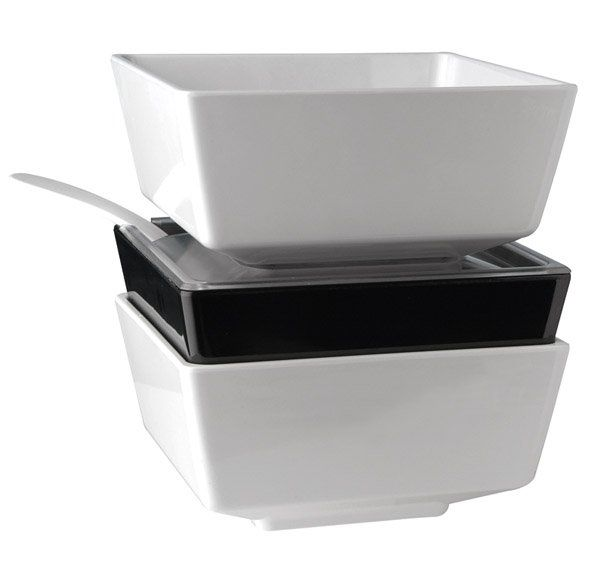 APS Schale -FLOAT-  schwarz,  25 x 25 cm, H: 12 cm, 4,7 L