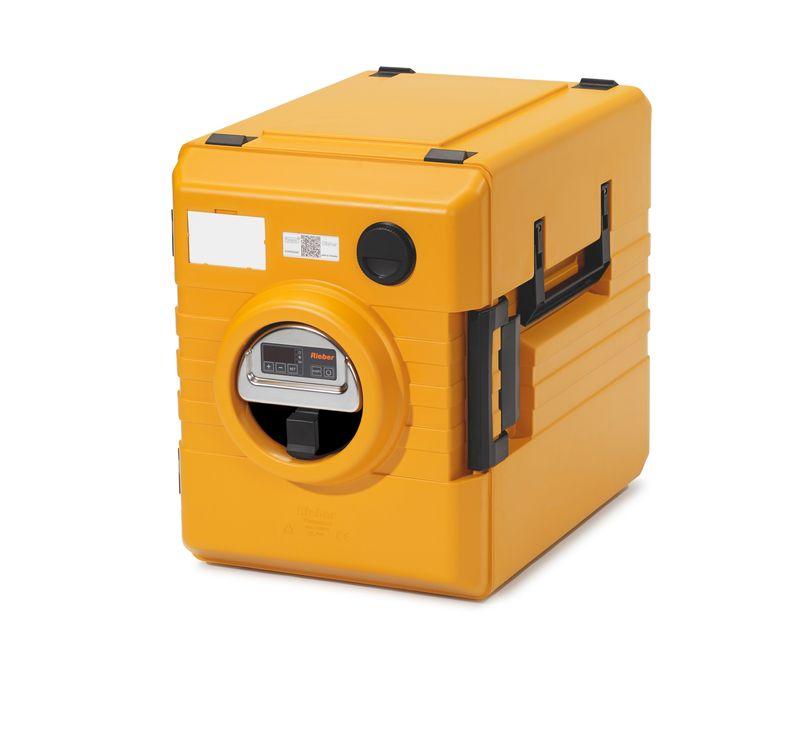 Rieber Thermobox 52 Liter Frontlader mit digitaler Umluftheizung, orange