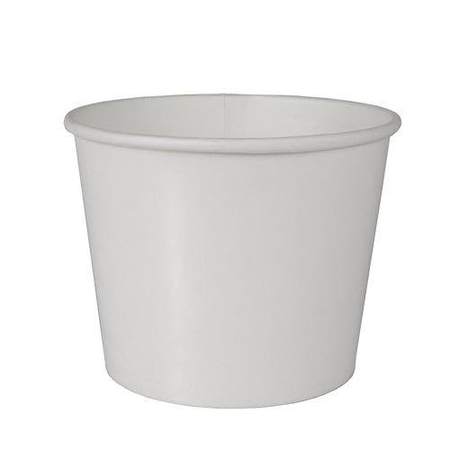 """50 gobelets à soupe Papstar, carton """"To Go"""", ronds, 500 ml, Ø 11 cm x hauteur : 8,3 cm, blanches"""