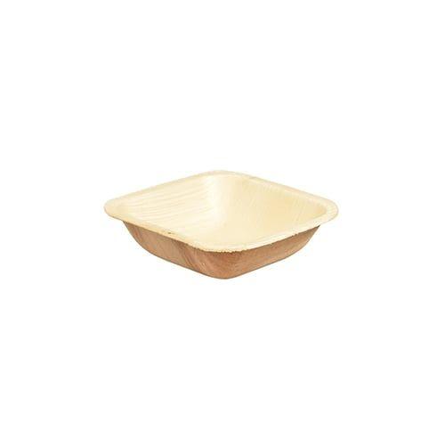 Papstar  Pure  Schale; eckig; Palmblatt - 25 Stück - 100 ml