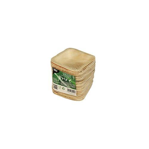 Papstar  Pure  Schale; eckig; Palmblatt - 25 Stück - 40 ml