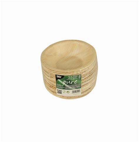 Papstar  Pure  Schale; rund; Palmblatt - 25 Stück - 200 ml