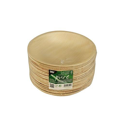 Papstar  Pure  Schale; rund; Palmblatt - 25 Stück  - 300 ml