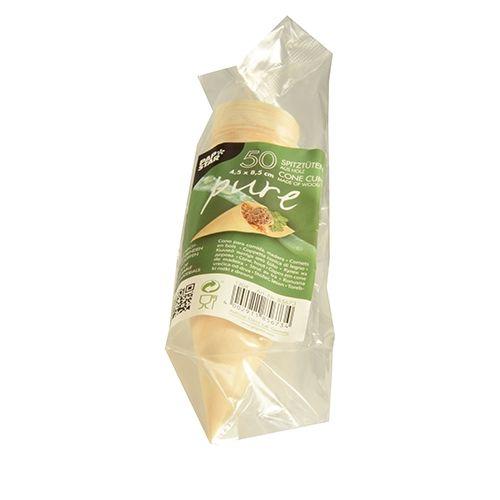 Papstar  Pure  Fingerfood-Spitztüte; L; Holz - 50 Stück
