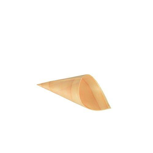 Papstar  Pure  Fingerfood-Spitztüte; XS; Holz - 50 Stück