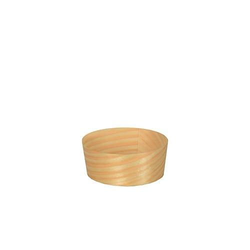 Papstar  Pure  Fingerfood-Schale; rund; Holz - 50 Stück Ø 5 cm x 2 cm