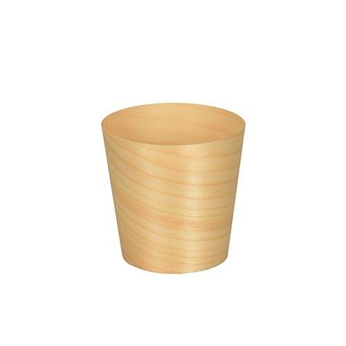 Papstar  Pure  Fingerfood-Schale; rund; Holz - 50 Stück Ø 6 cm x 6 cm