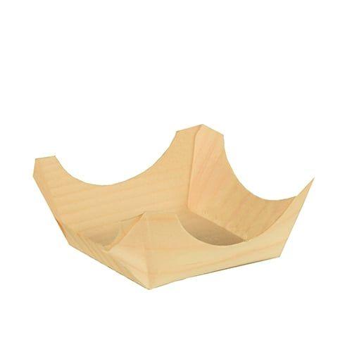 Papstar  Pure  Fingerfood-Schale - M; eckig; Holz - 50 Stück