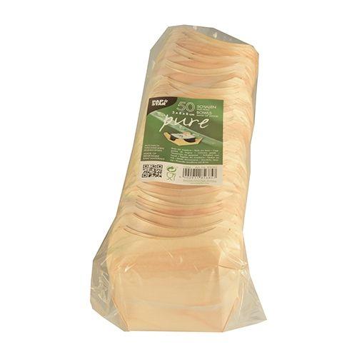 Papstar  Pure  Fingerfood-Schale - XL; eckig; Holz - 50 Stück