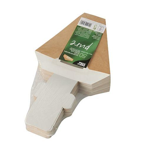 Papstar  Pure  Sandwichbox mit Sichtfenster - S; Pappe - 50 Stück