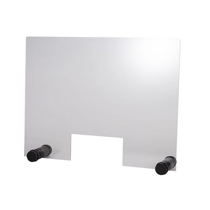 APS Hygieneschutzwand ROUND BLACK mit Öffnung 750 x 570