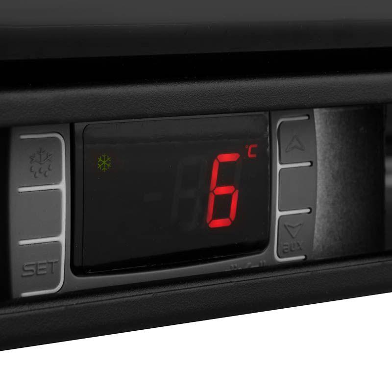 Barkühlschrank ECO 208 Liter mit Schiebetüren schwarz