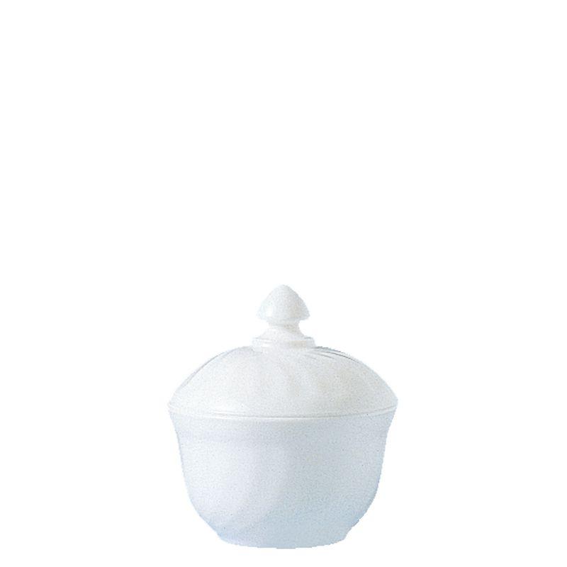 Arcoroc Trianon Zuckerdose mit Deckel Uni weiß, 12cm