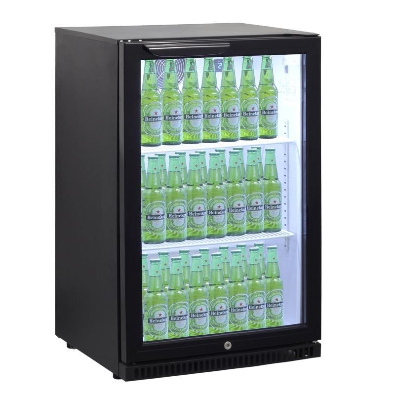 Barkühlschrank ECO 138 Liter schwarz