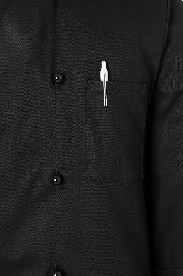 Herrenkochjacke Basic, schwarz, Größe: 2XL
