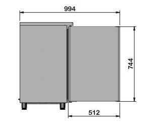 Barkühltisch PROFI 2/0