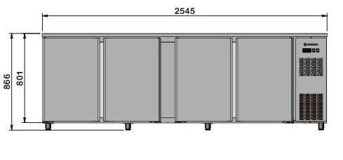 Barkühltisch PROFI 4/0