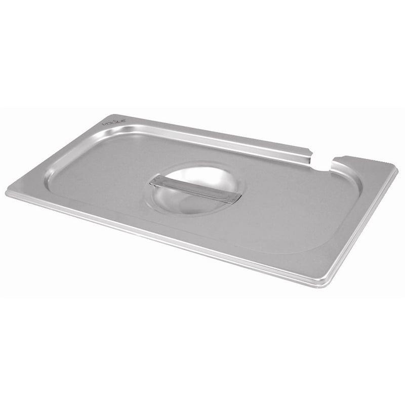 Gastronormbehälterdeckel Vogue Edelstahl GN 1/2 - mit Löffelaussparung