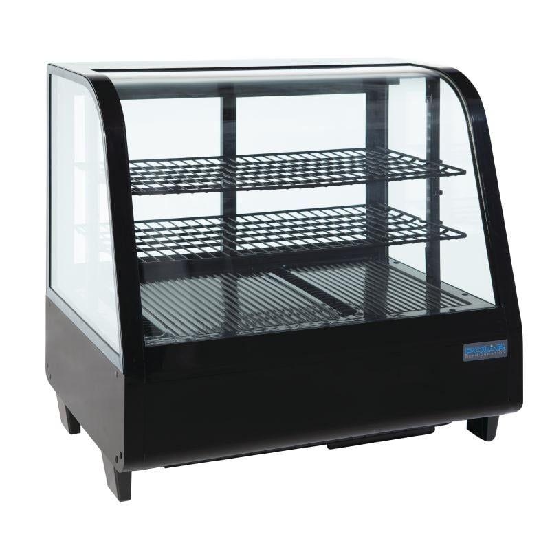 Kuchenvitrine Mini Polar 100 - schwarz