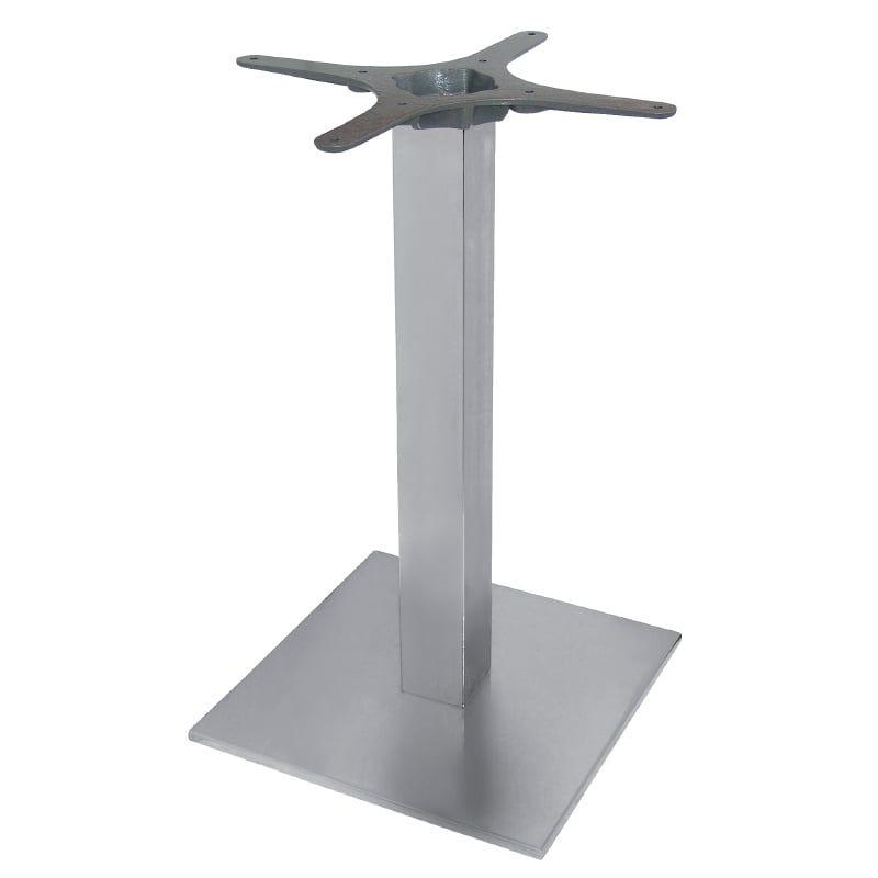 Edelstahl Tischgestell viereckig 680 mm