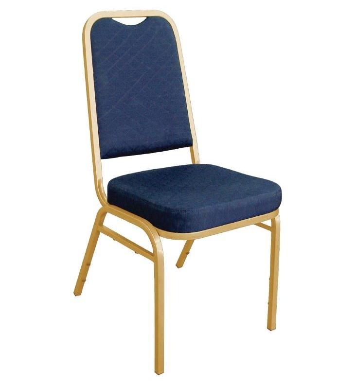 Bankettstühle Bolero mit rechteckiger Lehne, blau 4 Stück