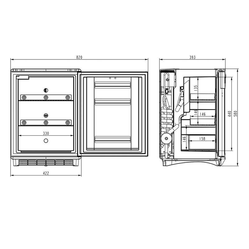 Dometic Medikamentenkühlschrank DS 301H