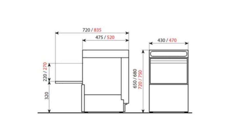 Gläserspülmaschine ECO 40 S 230 V