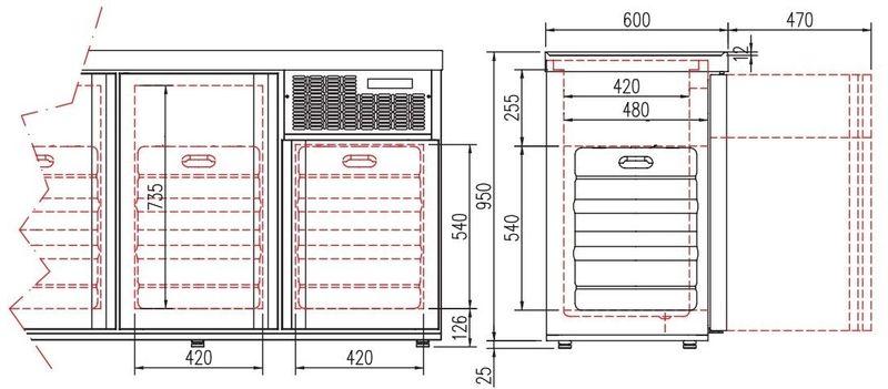 Fasskühler Premium  2 x 50 Liter mit Glastüren
