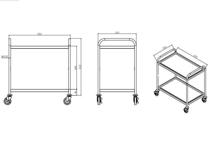 Servier- und Transportwagen Basic 2