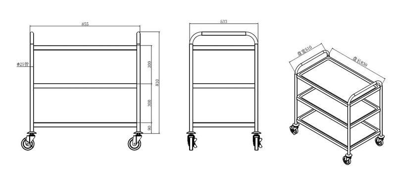 Servier- und Transportwagen Basic 3