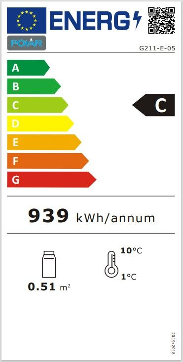 Kühlvitrine Polar 68L schwarz