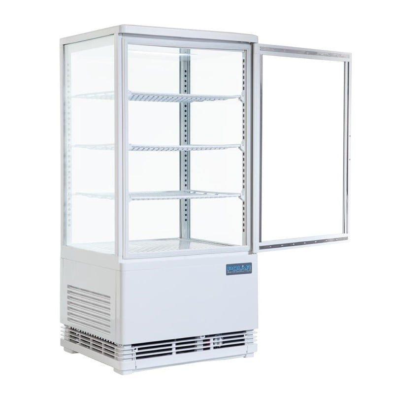 Kühlvitrine Polar 68L weiß